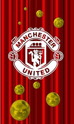 Football Digital Art - Tribute To Manchester United 1 by Alberto RuiZ