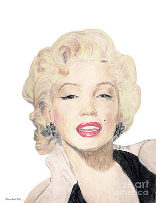 Drawing - Tribute To Marilyn Monroe by Deanna Yildiz