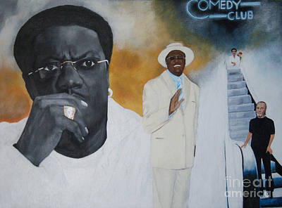 Painting - Tribute To Mr. Bernie Mac by Chelle Brantley