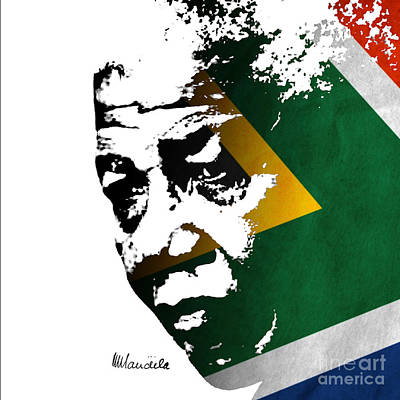Digital Art - tribute to Nelson Mandela by Rudi Prott