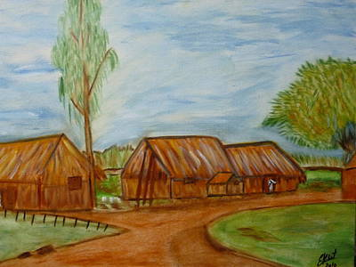Creole Cottage Wall Art - Painting - tribute to painter and friend France by Elizabeth Ribet