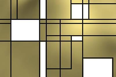 Geometric Art Digital Art - Tribute To Piet by Alberto RuiZ