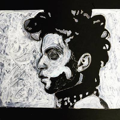 Painting - Tribute To Prince by Neal Barbosa