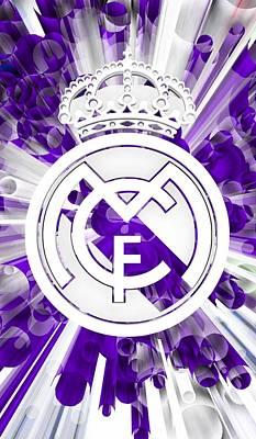 Football Digital Art - Tribute To Real Madrid 8 by Alberto RuiZ