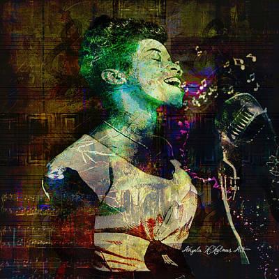 Digital Art - Tribute To Sarah Vaughn by Angela Holmes