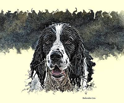 Cabochon Digital Art - Tribute To Spot. Rip by Artful Oasis