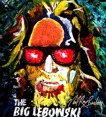 Lebowski Painting - tribute to THE BIG LEBOWSKI by Neal Barbosa