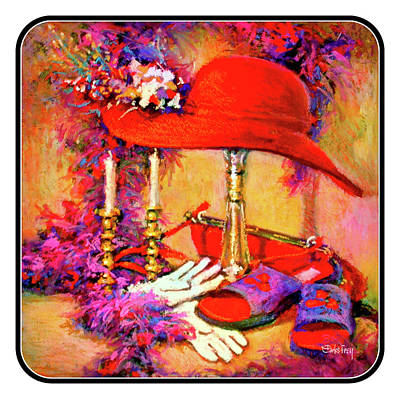 Red Hat Society Pastel - Tribute To The Red Hat Ladies by Carlos Frey