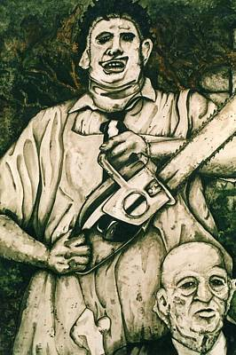 Tribute To The Texas Chainsaw Massacre Art Print by Sam Hane