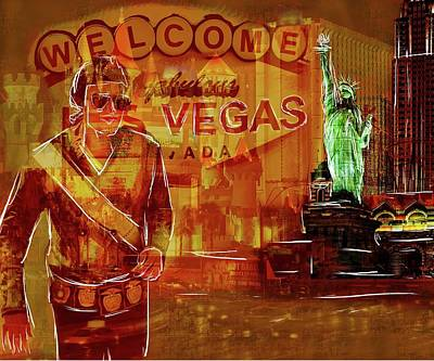 Digital Art - Tribute To Vegas Collage by Eduardo Tavares