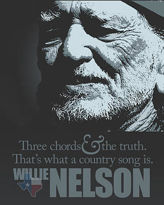 Tribute To Willie Nelson Art Print
