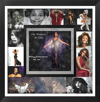 Tribute Whitney Houston One Moment In Time Art Print