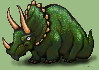 Granger - Triceratops by Kevin Middleton