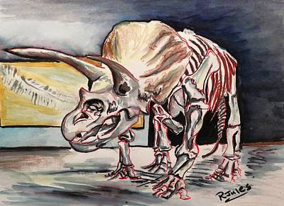 Painting - Triceratops by Richard Jules