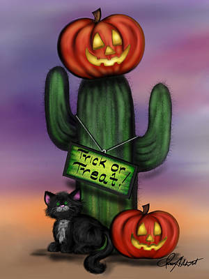 Painting - Trick Or Treat Cactus by Dani Abbott