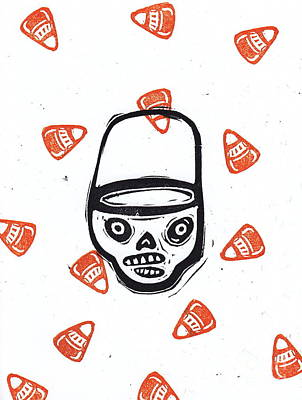 Trick Or Treat Candy Corn Skull Original
