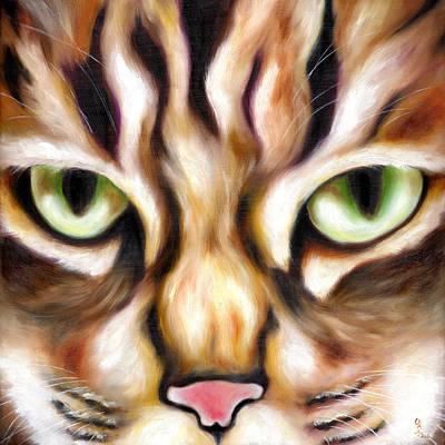 Humorous Cat Painting - Trick Or Treat by Hiroko Sakai