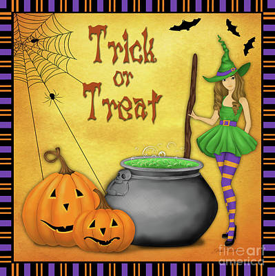 Digital Art - Trick Or Treat by Jean Plout