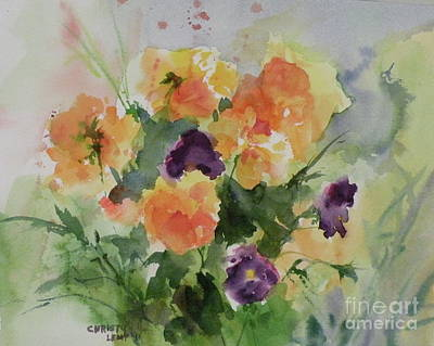 Painting - Trick Or Treat Pansies by Christy Lemp
