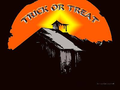 Spooky Digital Art - Trick Or Treat by Robert Orinski