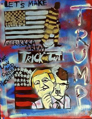 Liberal Painting - Trick Or Treat by Tony B Conscious
