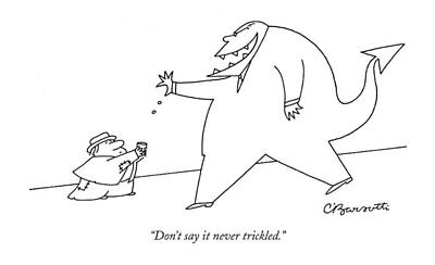 Drawing - Trickle Down Demon by Charles Barsotti