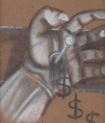 Busines Drawing - Trickle Down Economics Rough Sketch  by Stuart Bracewell