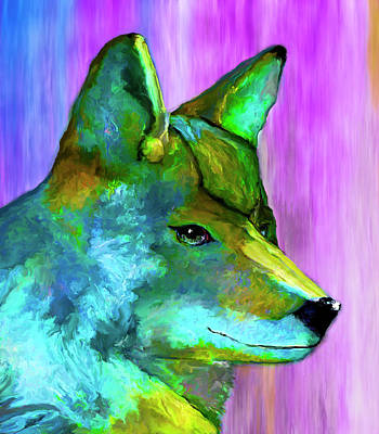 Painting - Trickster Coyote by Rick Mosher