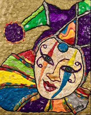 Mixed Media - Trickster by Deborah Stanley