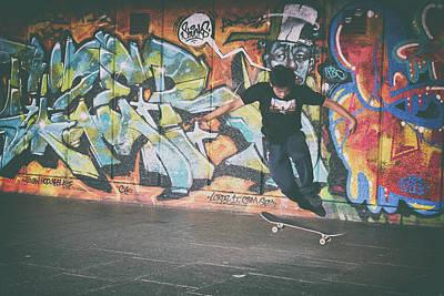 Skateboarding Photograph - Trickster by Martin Newman