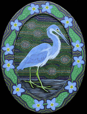 Painting - Tricolored Heron by Amanda Lynne