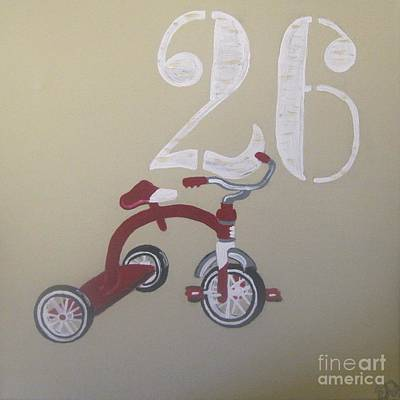 Tricycle Painting - Tricycle by Eva  Dunham