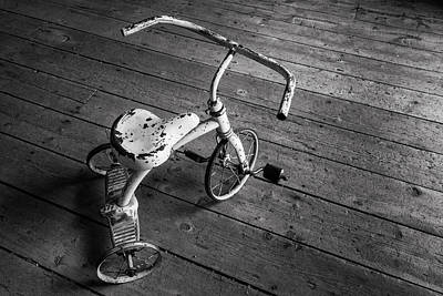 Photograph - Tricycle In Black And White by Denise Bush