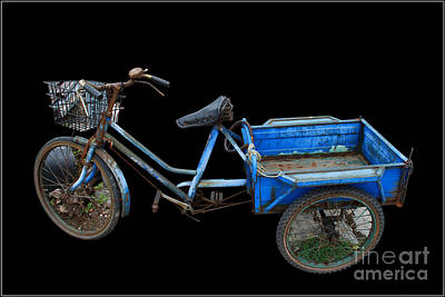 Tricycle In Blue Art Print by Ty Lee