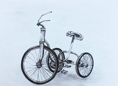 Tricycle Drawing - Tricycle by Tasha Mumbrue