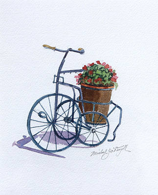 Painting - Tricycle With Flowers by Michael McDougall