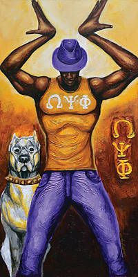 Tride And True Omeg Psi Phi Art Print