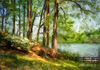 Digital Art - Tridelphia Lake In May by Lois Bryan