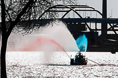 Photograph - Trident Fire Boat by Susan McMenamin