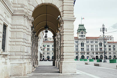 Photograph - Trieste, Italy Main Square by Alexandre Rotenberg