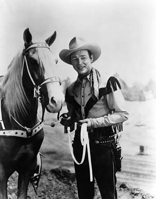 Cowboy Hat Photograph - Trigger, Roy Rogers, Ca. 1940s by Everett