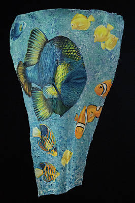 Painting - Triggerfish And Friends by Nancy Lauby
