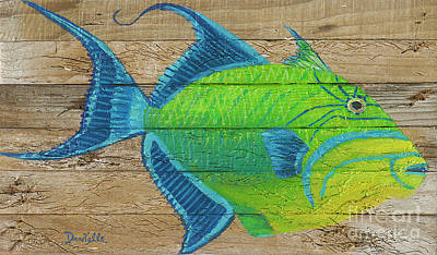 Triggerfish Painting - Triggerfish by Danielle Perry