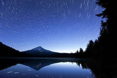 Startrails Photograph - Trillium Blues by Patrick Campbell