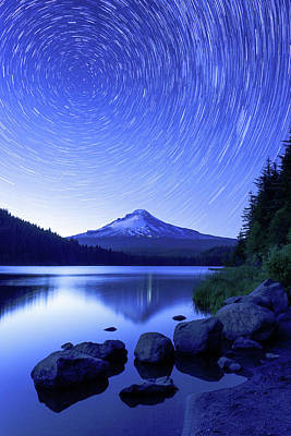 Startrails Photograph - Trillium Dreamscape by Patrick Campbell
