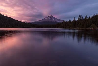 Photograph - Trillium Lake Glow by Patricia Davidson