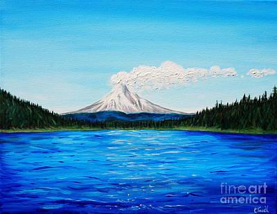 Mount Hood Painting - Trillium Lake by Kirsten Sneath