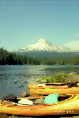 Photograph - Trillium Lake Oregon by Toula Mavridou-Messer