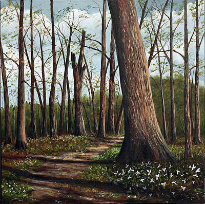 Painting - Trilliums by Sharon Steinhaus