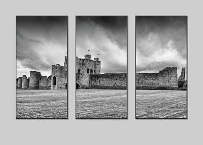Photograph - Trim Castle Triptych  by Martina Fagan
